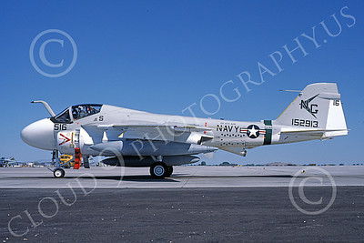 KA-6DUSN 00045 A taxing Gruman KA-6D Intruder USN 152913 VA-165 BOOMERS USS Kitty Hawk NAS Fallon 7-1986 military airplane picture by Michael Grove, Sr