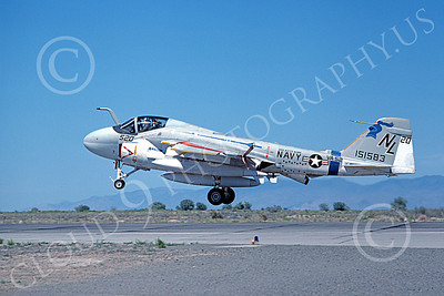 KA-6DUSN 00004 A landing Gruman KA-6D USN 151583 VA-52 KNIGHTRIDERS USS Kitty Hawk NAS Fallon 6-1980 military airplane picture by Michael Grove, Sr