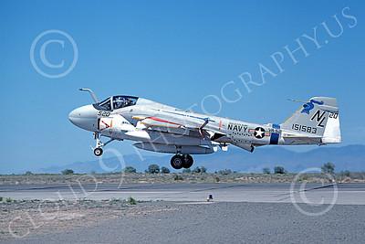 KA-6DUSN 00004 A landing Gruman KA-6D USN 151583 VA-52 KNIGHTRIDERS USS Kitty Hawk NAS Fallon 6-1980 military airplane picture by Michael Grove, Sr
