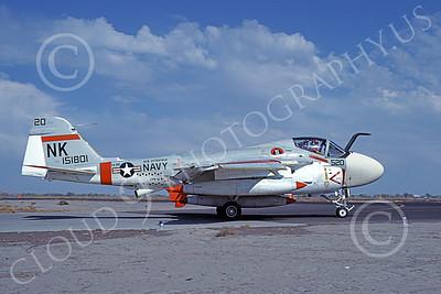 KA-6DUSN 00027 A taxing Gruman KA-6D Intruder USN 151801 VA-196 MAIN BATTERY USS Enterprise NAS Fallon 10-1977 military airplane picture by Michael Grove, Sr