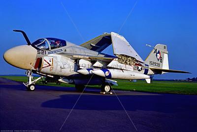KA-6D-USN-VA-34 001 A static Grumman KA-6D Intruder, USN aerial tanker, 152939, VA-34 BLUE BLASTERS, 8-1978 Mildenhall, military airplane picture by Stephen W  D  Wolf  DDD_9348  Dt