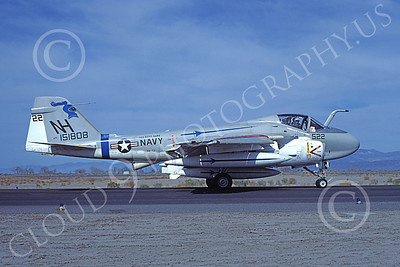 KA-6DUSN 00043 A taxing Gruman KA-6D Intruder USN 151808 VA-52 KNIGHTRIDERS USS Kitty Hawk NAS Fallon 4-1977 military airplane picture by Michael Grove, Sr