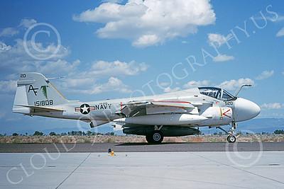 KA-6DUSN 00019 A taxing Gruman KA-6D Intruder USN 151808 VA-205 GREEN FALCONS NAS Fallon 5-1992 military airplane picture by Michael Grove, Sr