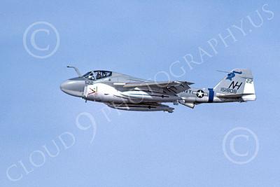 KA-6DUSN 00006 A flying Gruman KA-6D Intruder USN 151808 VA-52 KNIGHTRIDERS NH code 4-1977 military airplane picture by Michael Grove, Sr