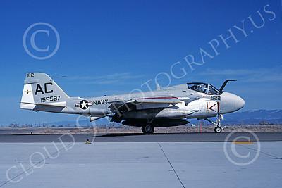 KA-6DUSN 00021 A taxing Gruman KA-6D Intruder USN 155597 Fallon 5-1988 military airplane picture by Michael Grove, Sr