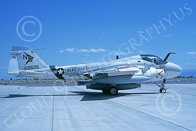 KA-6DUSN 00041 A taxing Gruman KA-6D Intruder USN 152626 VA-165 BOOMERS USS Nimitz NAS Fallon 8-1994 military airplane picture by Michael Grove, Sr