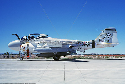 KA-6DUSN-VA-95 001 A taxing Gruman KA-6D Intruder USN 149936 VA-95 GREEN LIZARDS USS Enterprise NAS Fallon 8-1987 military airplane picture by Michael Grove, Sr      Dwt copy