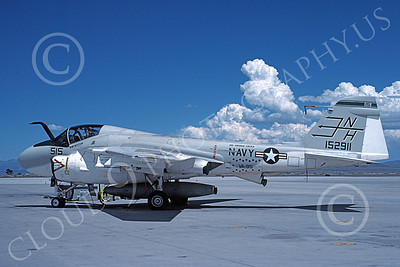 KA-6DUSN 00011 A static Gruman KA-6D USN 152911 VA-95 GREEN LIZARDS USS Abraham Lincoln NAS Fallon 7-1990 military airplane picture by Michael Grove, Sr