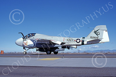 KA-6DUSN 00003 A taxing Gruman KA-6D USN 152619 VA-165 BOOMERS USS Kitty Hawk NAS Fallon 12-1984 military airplane picture by Michael Grove, Sr