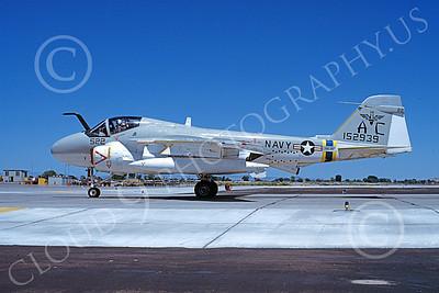 KA-6DUSN 00039 A taxing Gruman KA-6D Intruder USN 152939 VA-75 SUNDAY PUNCHERS NAS Fallon 7-1981 military airplane picture by Michael Grove, Sr