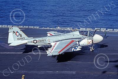 KA-6DUSN 00008 A taxing Gruman KA-6D Intruder USN 152913 VA-34 BLUE BLASTERS USS Dwight D Eisenhower 12-1977 military airplane picture by Ken Bastlett