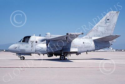ES-3USN 00021 A static Lockheed ES-3A Viking USN 159391 VQ-6 BLACK RAVENS NAS Moffett 4-1999 military airplane picture by Michael Grove, Sr