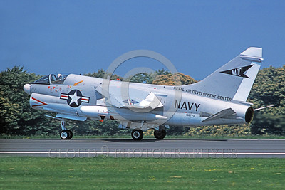A-7USN-NADC 0002 A landing Vought A-7C Corsair II USN 156770 NADC NAVAL AIR DEVELOPMENT CENTER 7-1975 military airplane picture by Michael Grove, Sr