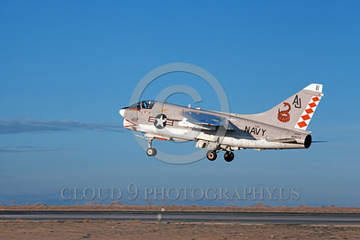 A-7USN-VA-86 0006 A landing Vought A-7E Corsair II USN attack jet 156847 VA-86 SIDEWINDERS USS Nimitz NAS Fallon 1-1981 military airplane picture by Michael Grove, Sr