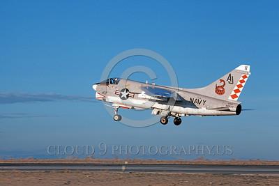 A-7USN-VA-86 0006 A landing Vought A-7E Corsair II USN attack jet 156847 VA-86 SIDEWINDERS USS Nimitz NAS Fallon 1-1981 military airplane picture by Michael Grove, Sr