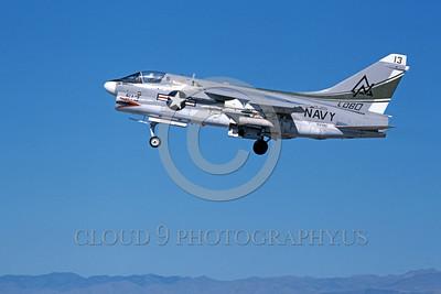 A-7USN-VA-305 0006 A landing Vought A-7B Corsair II USN 154390 VA-305 LOBOS NAS Fallon 11-1979 military airplane picture by Michael Grove, Sr