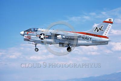 A-7USN-VA-94 0010 A landing Vought A-7E Corsair II USN 156828 VA-94 SHRIKES NAS Fallon 8-1978 military airplane picture by Michael Grove, Sr