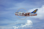 A-7USN-VA-303 0002 A flying Vought A-7B Corsair II USN attack jet 154550 with bombs VA-303 GOLDEN HAWKS 5-1980 military airplane picture by Peter B Lewis