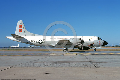WP-3USN 00001 A static Lockheed WP-3 Orion USN 149675 VW-4 HURRICANE HUNTERS NAS Jax 1-1973 military airplane picture by L B Sides    DONEwt copy