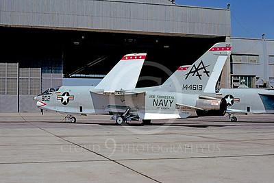 RF-8USN 00019 Vought RF-8 Crusader USN 144618 VFP-63 USS Forrestal July 1977 NAS Miramar by Peter J Mancus