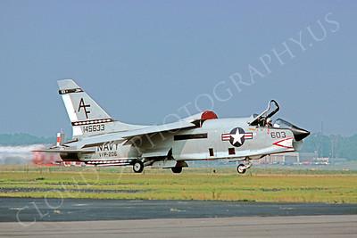 RF-8USN 00005 Vought RF-8 Crusader USN 145633 VFP-206 June 1978 by Peter J Mancus