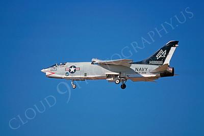 RF-8 00008 Vought RF-8 Crusader USN 146882 VFP-306 February 1975 by Peter J Mancus