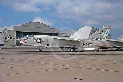 RF-8USN 00015 Vought RF-8 Crusader USN 146895 VFP-63 NAS Miramar April 1975 by Peter J Mancus