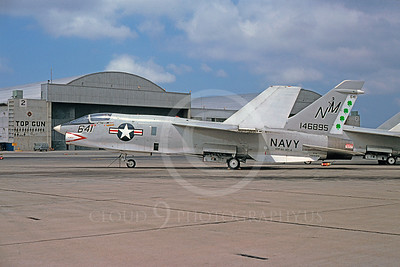 RF-8USN 00015 Vought RF-8 Crusader USN 146895 VFP-63 NAS Miramar April 1975 by Peter J Mancus