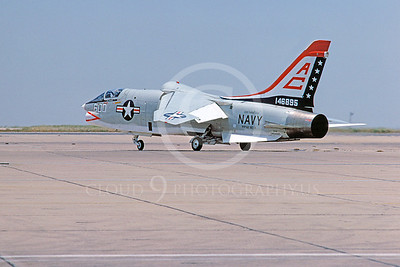 RF-8USN 00021 Vought RF-8 Crusader USN 146895 USS Saratoga NAS Miramar June 1976 Biccentenial Markings by Peter J Mancus