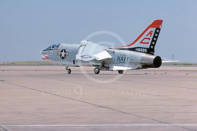 RF-8USN 00021 Vought RF-8 Crusader USN 146895 USS Saratoga NAS Miramar June 1976 Biccentenial Markings by Peter J Mancus