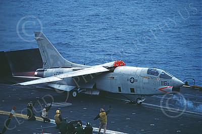 RF-8USN 00031 A Vought RF-8 Crusader USN VFP-63 EYES OF THE FLEET USS Coral Sea NK code in afterburner by Thomas Byrne