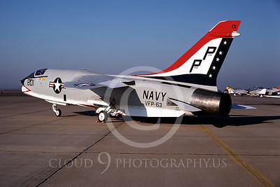 BICEN-F-8 00001 Vought RF-8 Crusader VFP-63 USN NAS Miramar Oct 1975 by Peter J Mancus