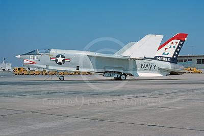 RF-8USN 00009 Vought RF-8 Crusader USN 146895 VFP-63 USS Coral Sea July 1976 NAS Miramar Bicentennial Markings by Peter J Mancus