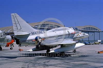 A-4USMC-Test 0005 A static Douglas A-4M Skyhawk USMC 158148 4-1972 military airplane picture by Frank MacSorley