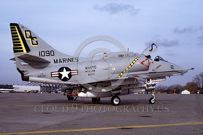 A-4USMC-VMA-131 0005 A static Douglas A-4E Skyhawk USMC 151090 VMA-131 DIAMONDBACKS 11-1978 military airplane picture by Michael Grove, Sr