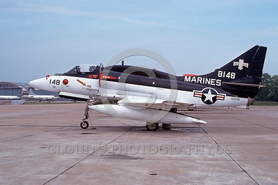 A-4USMC-Test 0007 A static Douglas A-4M Skyhawk USMC 158148 5-1975 military airplane picture by Michael Grove, Sr