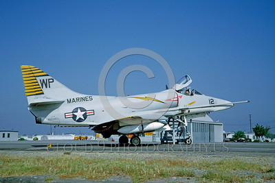 A-4USMC-Generic 0003 A static USMC Douglas A-4E Skyhawk attack jet 151040 5-1965 military airplane picture by Clay Jansson