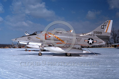 A-4USMC-VMA-131 0011 A static Douglas A-4 Skyhawk USMC 149989 VMA-131 DIAMONDBACKS NAS Willow Grove 7-1976 military airplane picture by Boy Rys