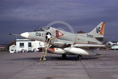 A-4USMC-VMA-131 0017 A static Douglas A-4E Skyhawk USMC 149489 VMA-131 DIAMONDBACKS 3-1974 military airplane picture by Michael Grove, Sr