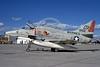 A-4USMC-VMA-324 0003 A static Douglas A-4M Skyhawk USMC 158162 VMA-324 VAGABONDS NAS China Lake 3-1973 military airplane picture by Bob La Bouy