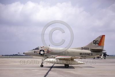 A-4USMC-VMA-131 0003 A taxing Douglas A-4C Skyhawk USMC 149489 VMA-131 DIAMONDBACKS NAS Jacksonville 5-1972 military airplane picture by L B Sides