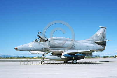A-4USMC-Generic 0011 A taxing Douglas A-4M Skyhawk USMC 158155 NAS Fallon 6-1993 military airplane picture by Carl E Porter