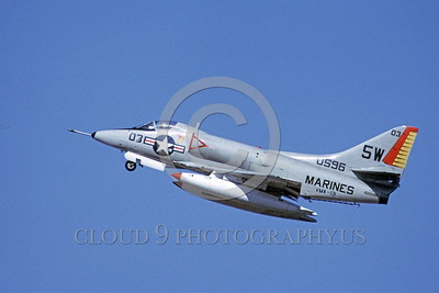 A-4USMC-Generic 0014 A flying Douglas A-4 Skyhawk USMC 150596 VMA-131 DIAMONDBACKS 3-1972 military airplane picture by Michael Grove, Sr