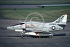 A-4USMC-VMA-211 0001 A taxing Douglas A-4 Skyhawk USMC 151087 VMA-211 WAKE ISLAND AVENGERS Yokota AB 6-1974 military airplane picture by Hideki Nagakubo