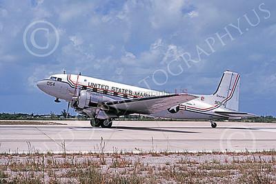 C-117USMC 00021 A taxing Douglas C-117 USMC 9064 BEAUFORT BICENTENNIAL MCAS Beaufort 9-1977 military airplane picture by Michael Grove, Sr