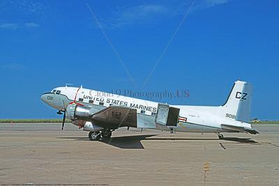 C-117USMC 00023 A static Douglas C-117 USMC 9081 CZ code 9-1975 military airplane picture by Michael Grove, Sr