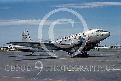 C-117USMC 00023 Douglas R4D-8 Skytrain USMC Cherry Point 1 August 1953 Newark by Warren D Shipp