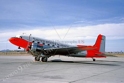 DG 00002 Douglas C-117 Skytrain USMC MCAS Yuma 1965 by Clay Jansson