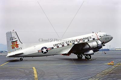 C-117USMC 002 A static Douglas C-117D Super Dakota, USMC 17273, tansport airplane, 12-1979 Iwakuni Air Base, military airplane picture by Stephen W  D  Wolf   EEE_6761  Dt