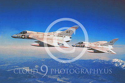 F-4DUSMC 00004 Douglas F-4D1 Skyray VMF-115 courtesy Douglas Aircraft Co
